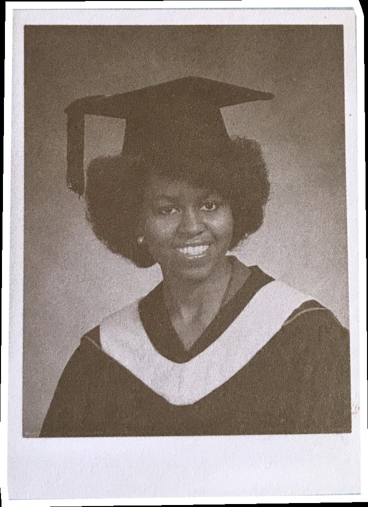 foto de formatura de Michelle Obama